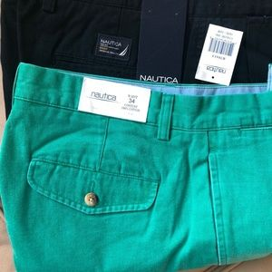 Men's Nautica Shorts 2 Pair size 34 NWT's Pleated